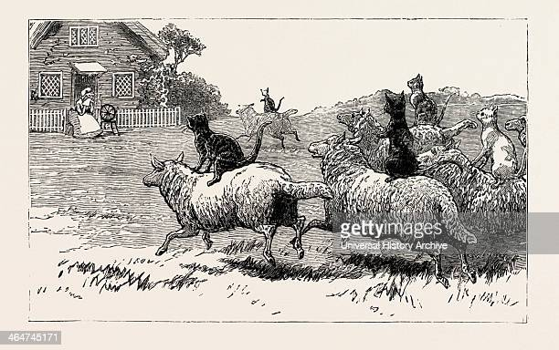 The Farmer Soon Heard Where His Sheep Went Astray And Arrived At Dame's Door With His Faithful Dog Tray He Knocked With His Crook And The Stranger To...