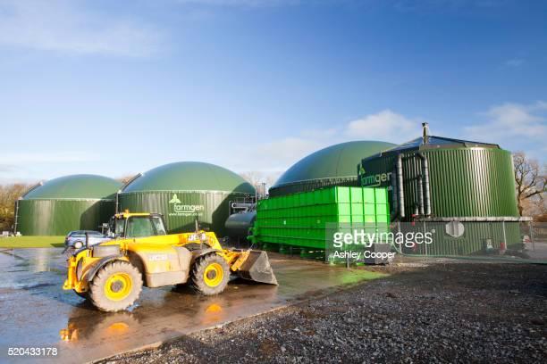 The Farmgen anaerobic bio digestor at Dryholme Farm near Silloth Cumbria, UK.