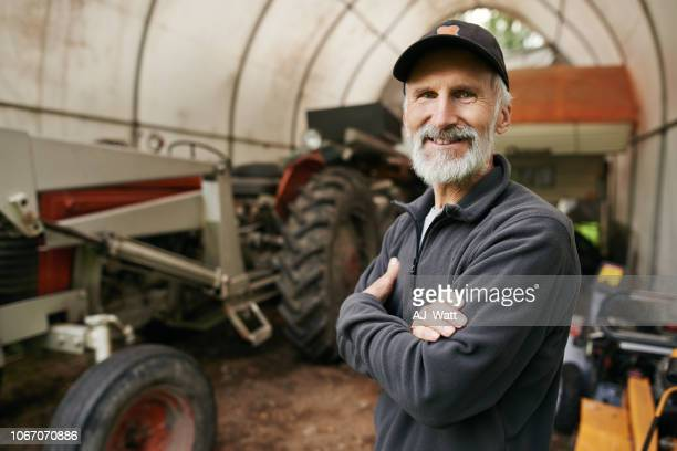 the farming authority himself - gray hat stock pictures, royalty-free photos & images
