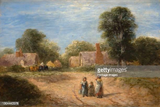 The Farmstead, 1848. Artist David Cox the elder.