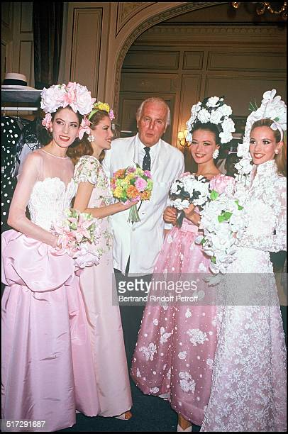The fashion designer Hubert De Givenchy Givenchy Haute Couture fashion show spring summer 1992 in Paris