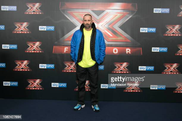 The fashion designer Marcelo Burlon attends at photocall of the final night of the talent show XFactor Italy 2018 at the Assago Forum Milan December...
