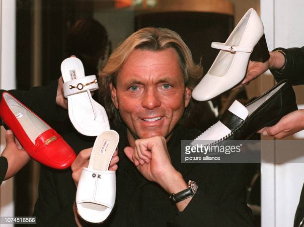 ARCHIVE The fashion entrepreneur Otto Kern presents his shoe collection at the International Shoe Fair in Duesseldorf Germany 15 September 1996 The...