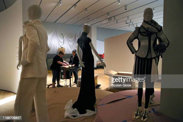 The fashion exhibit in the new wing at the PeabodyEssex Museum in Salem MA is pictured on Sept 5 2019
