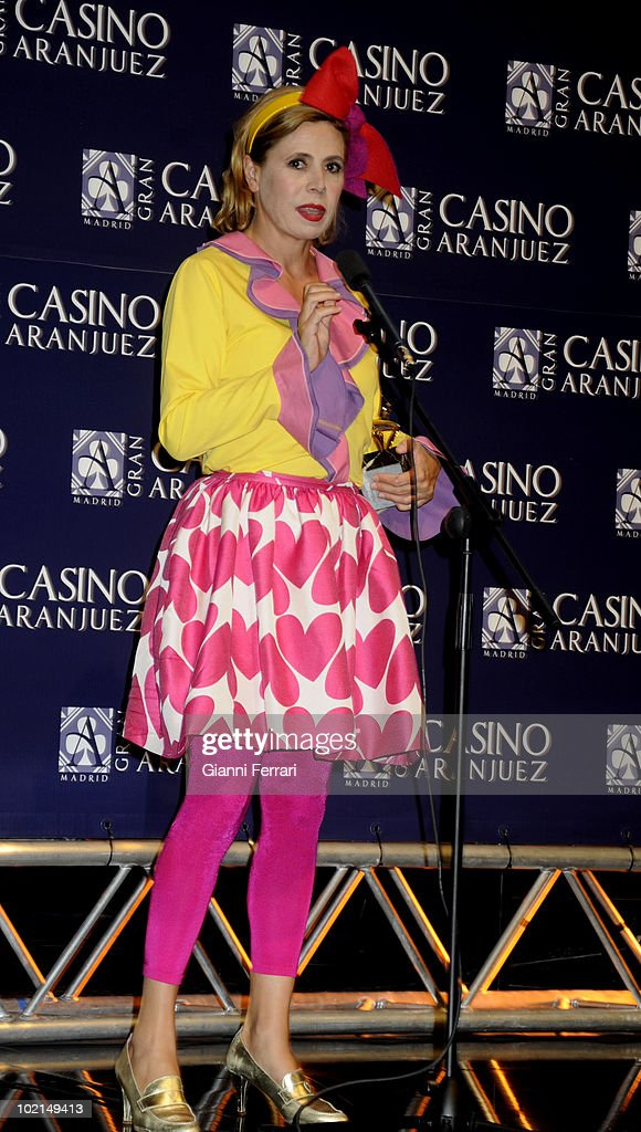 The fashionable designer Agatha Ruiz de la Prada, winner of the award 'Golden Antenna', 27th September 2009, 'Gran Casino de Aranjuez', Aranjuez, Madrid.