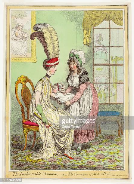 The Fashionable Mamma, or, The Convenience of Modern Dress, published February 15 James Gillray , published by Hannah Humphrey , England,...