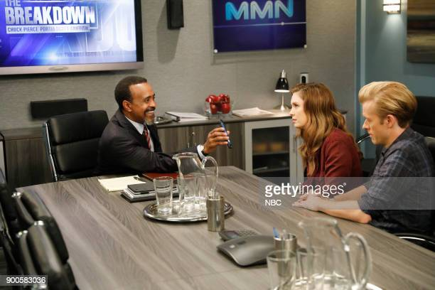 NEWS 'The Fast Track' Episode 212 Pictured Tim Meadows as Lawyer Briga Heelan as Katie Wendelson Adam Campbell as Greg Walsh