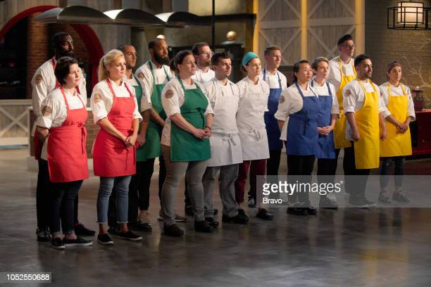 TOP CHEF 'The Fastest 2 Minutes in Cooking' Episode 1601 Pictured Caitlin Steininger Eric Adjepong Kelsey Barnard Pablo Lamon Justin Sutherland Sara...