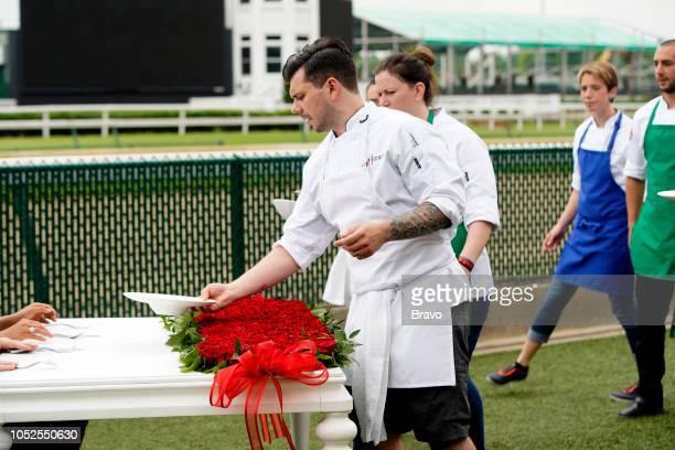 TOP CHEF 'The Fastest 2 Minutes in Cooking' Episode 1601 Pictured Eddie Konrad Sara Bradley Adrienne Wright Pablo Lamon