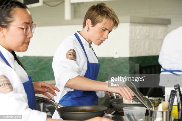 TOP CHEF 'The Fastest 2 Minutes in Cooking' Episode 1601 Pictured Nini Nguyen Adrienne Wright