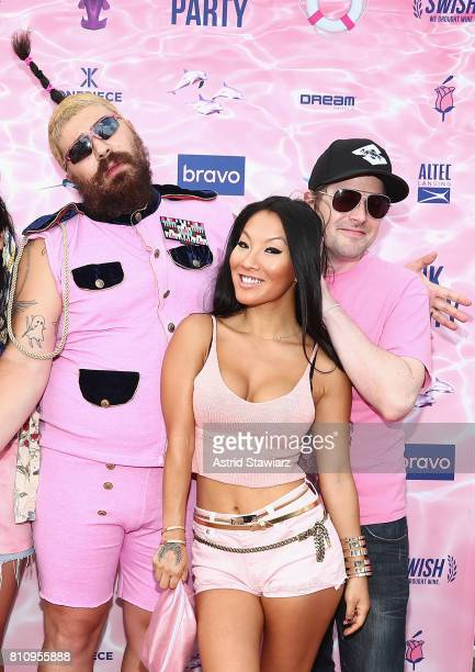 The Fat Jew and adult actress Asa Akira attend The PINK PARTY presented by SWISH at Pier 81 on July 8, 2017 in New York City.