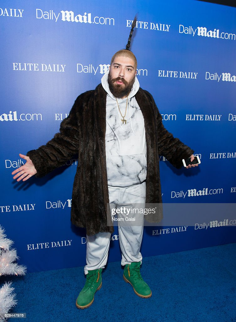 The Fat Jew attends the DailyMail.com and Elite Daily holiday party at Vandal on December 7, 2016 in New York City.