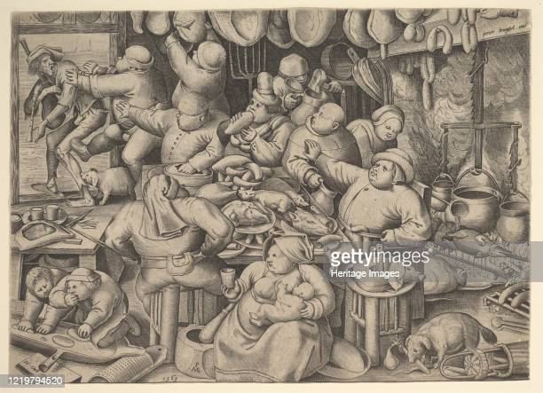 The Fat Kitchen 1563 After Pieter Bruegel the Elder Artist Pieter van der Heyden