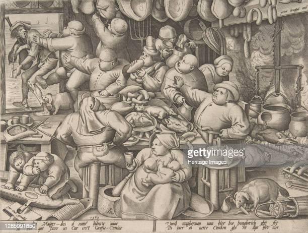 The Fat Kitchen, 1563. Artist Pieter van der Heyden.