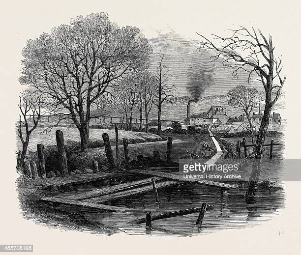 The Fatal Explosion At St Edmund's Main Colliery Barnsley Trench Cut To The Dearne And The Dove Canal For The Purpose Of Flooding The Pit 1862