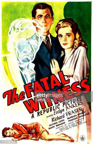The Fatal Witness poster US poster top center from left Richard Fraser Evelyn Ankers 1945