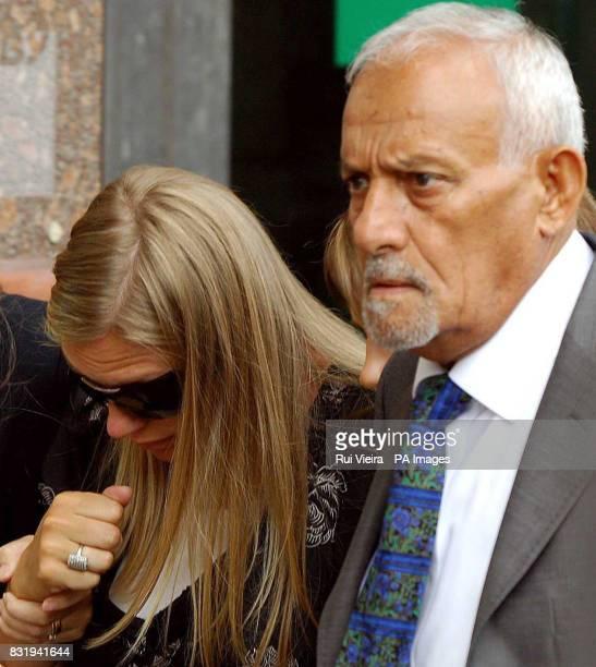 The father of former world boxing champion Naseem Hamed Sol and Naseem Hamed's wife Eleasha leave Sheffield Crown after Hamed was jailed for 15...