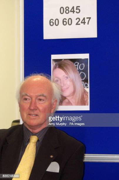 The father of missing chef Claudia Lawrence Peter Lawrence at a press conference appealing for information about his daughter's whereabouts in...