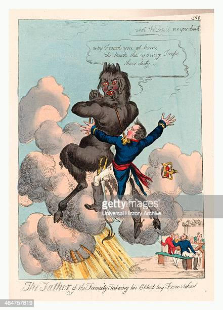 The Father Of The Family Takeing [sic] His Eldest Boy From School [england Publisher Not Named Between 1813 And 1815] 1 Print Etching Handcolored 35...