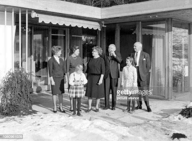 The 'father of the German Wirtschaftswunder' chancellor Ludwig Erhard and his family Ursula Klotz Lore Böhner Luise Erhard Ludwig Erhard and Dr...