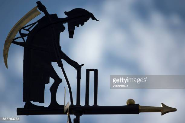 The Father Time weathervane during Day Three of the 3rd Investec Test Match between England and West Indies at Lord's Cricket Ground on September 9...