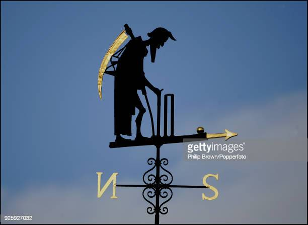 The Father Time weathervane during the 1st NatWest Series One Day International between England and West Indies at Lord's Cricket Ground London 1st...
