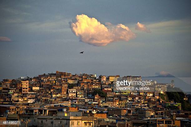 The Favela da Mare shantytown complex a drugtrafficking stronghold and considered one of the most dangerous places in the city at down in Rio de...