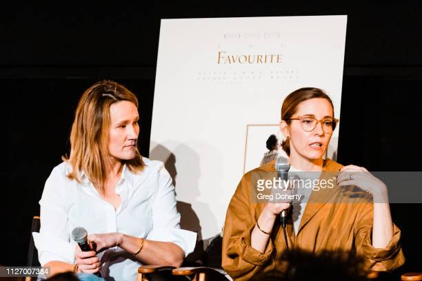 The Favourite Set Decorator Alice Felton and The Favourite Production Designer Fiona Crombie discuss their work at the 13th Annual Art Of Production...