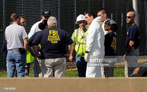 The FBI Evidence Response Team arrives on site at CRRA September 13 as State Police and FBI investigate in the missing persons case of Yale student...