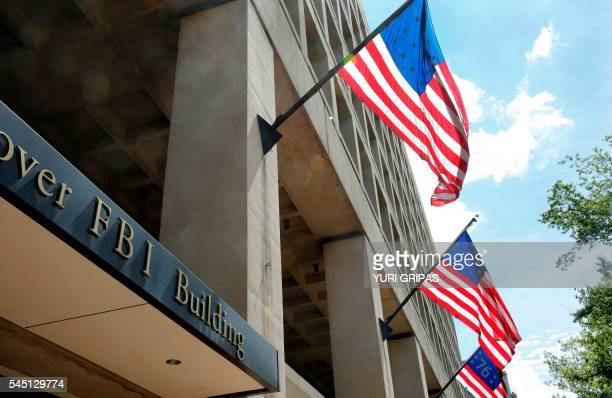The FBI headquarters building is viewed on July 5 2016 in Washington DC The FBI said Tuesday it will not recommend charges over Hillary Clinton's use...