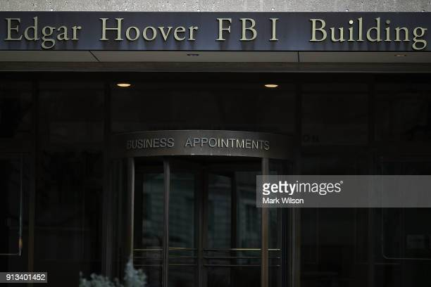 The FBI headquarters is seen on February 2, 2018 in Washington, DC. President Donald Trump contemplating the possible release of a highly...