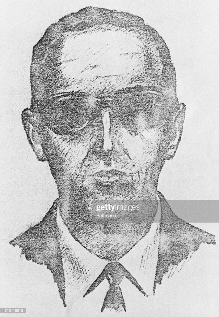 Sketch of Highjacking Suspect D. B. Cooper : News Photo