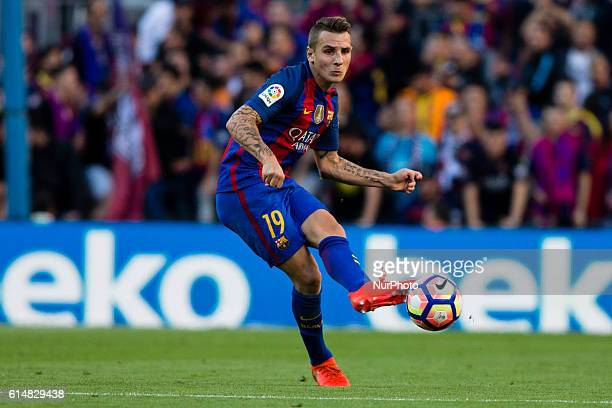 The FC Barcelona player Lucas Digne from France during the La Liga match between FC Barcelona and Deportivo at the Camp Nou stadium on October 15...