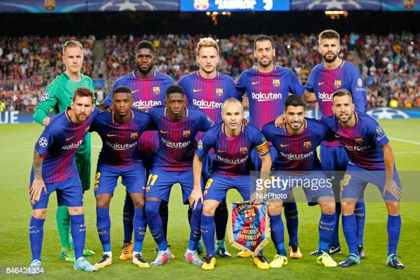 the FC Barcelona team during Champions League match between FC Barcelona v RCD Juventus in Barcelona on September 12 2017
