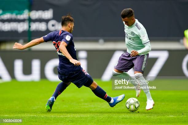 The FC Bayern Muenchen Team pose for a picture during the AUDI Football Summit match between Bayern Muenchen and Paris St Germain at Woerthersee...
