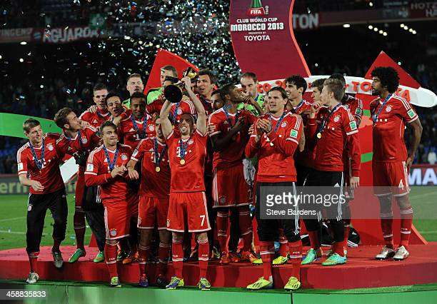The FC Bayern Munchen players celebrate after winning the FIFA Club World Cup after the FIFA Club World Cup Final match between FC Bayern Munchen v...