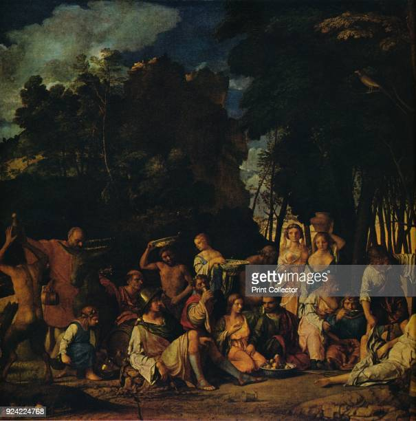 'The Feast of the Gods' 15141529 The painting is part of the Widener Collection National Gallery of Art Washington DC From Masterpieces of Painting...