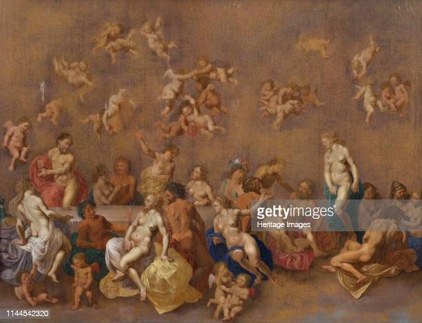 The Feast of the Gods 1600s Found in the Collection of Nivaagaards Malerisamling Artist Poelenburgh Cornelis van