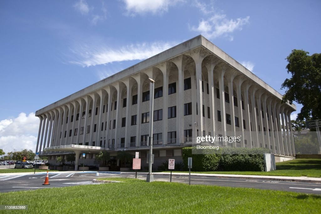 The federal court building stands in West Palm Beach