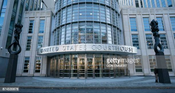 The Federal Courthouse in Brooklyn is seen in New York where Juan Ángel Napout of Paraguay José Maria Marin of Brazil and Manuel Burga of Peru are on...