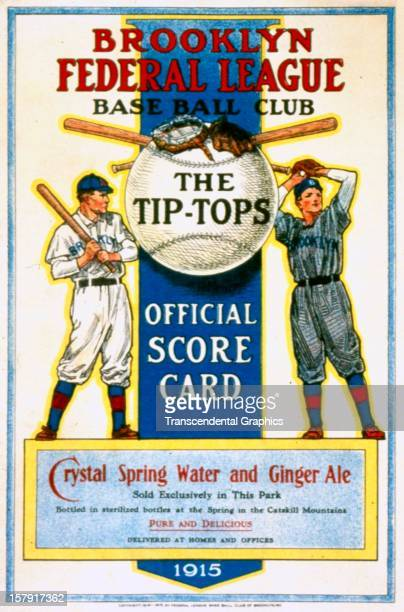 The Federal League Brooklyn TipTops use this scorecard design for the season published in 1915 in Brooklyn New York