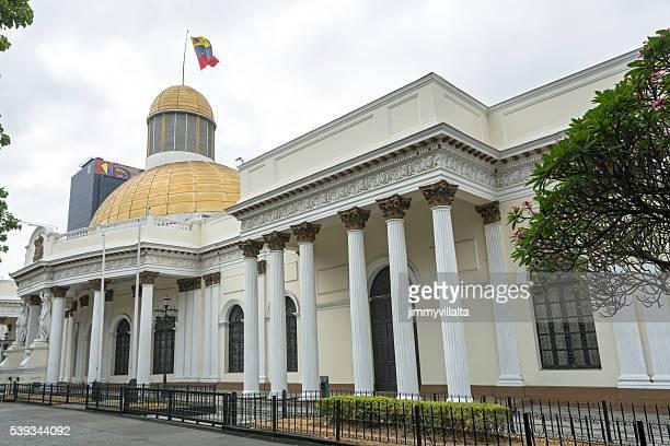 de la ley federal de palacio. capitolio. asamblea nacional - venezuela fotografías e imágenes de stock