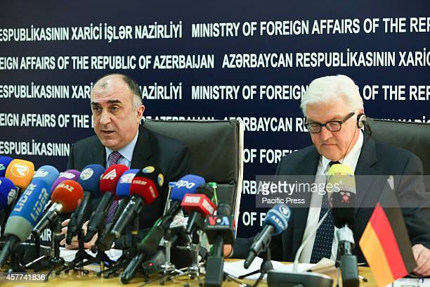The Federal Minister for Foreign Affairs of the Federal Republic of Germany FrankWalter Steinmeier and Elmar Mammadyarov Azerbaijani Foreign Minister...