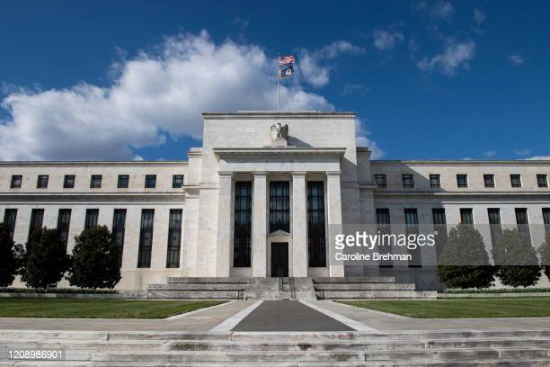The Federal Reserve building is pictured in Washington on Thursday, April 2, 2020.