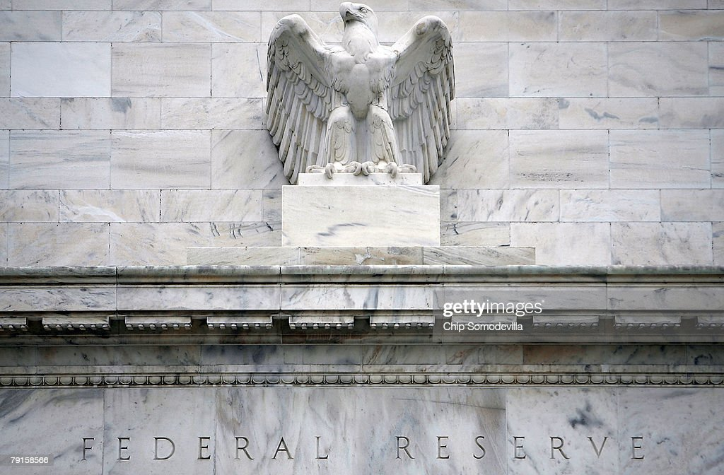 Federal Reserve Lowers Key Rate By Three Quarters Of A Point : News Photo