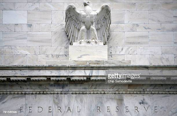 The Federal Reserve building is seen January 22 2008 in Washington DC The Fed cut its benchmark interest rate by threequarters of a percentage point...