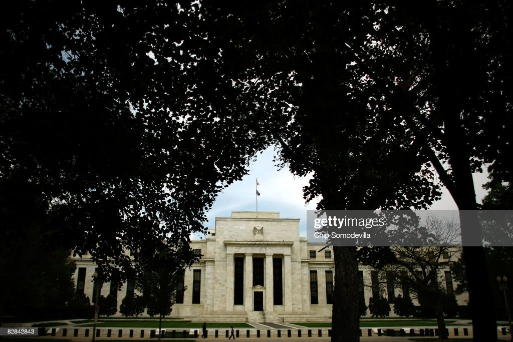 Federal Reserve Leaves Interest Rates Unchanged : News Photo