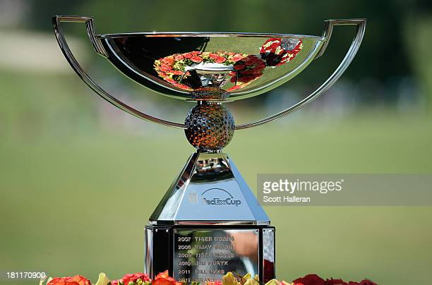 The FedEx Cup is seen near the first tee during the first round of the TOUR Championship by CocaCola at East Lake Golf Club on September 19 2013 in...