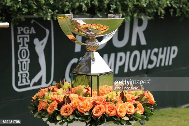 The FedEx Cup trophy is on display before the final round of the PGA Tour Championship The Tour Championship is the final event of the FedEx Cup...