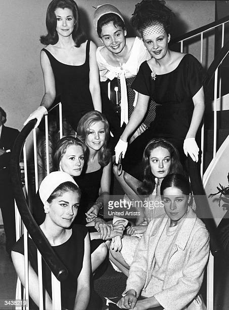 The female cast of the film 'The Group' directed by Sidney Lumet and based upon the book by Mary McCarthy Clockwise Candice Bergen Shirley Knight...